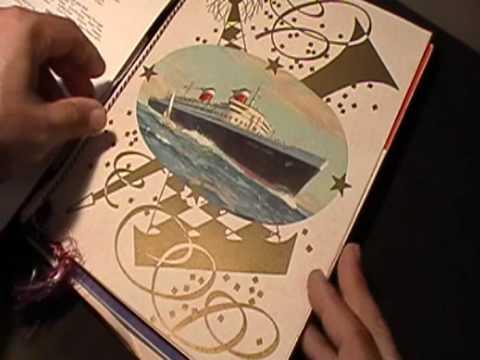 SS United States Ocean Liner Memorabilia 1958