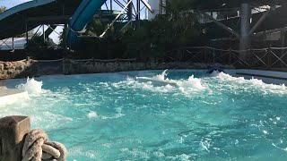Jacuzzi and water slides