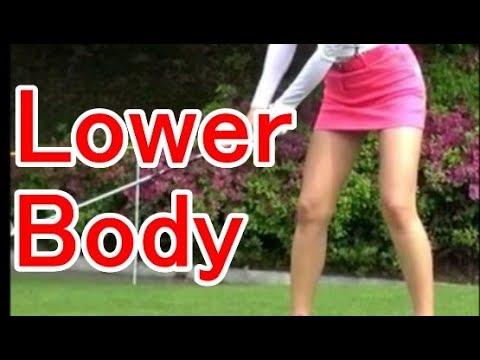Asian sexy Golfer Shin-Ae Ahns Golf Swing!?Lower body