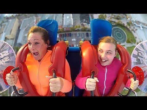 Scared Moms   Funny Slingshot Ride Compilation