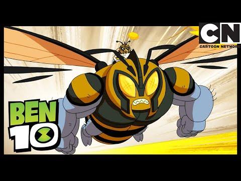 ben-and-gwen-fly-to-a-huge-bee!-|-ben-in-rome-part-2:-the-bee's-knees-|-ben-10-|-cartoon-network