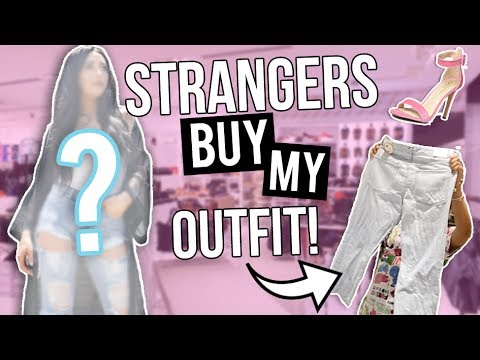 I LET STRANGERS PICK MY OUTFIT! Shopping Challenge 2017! Caitlin Bea