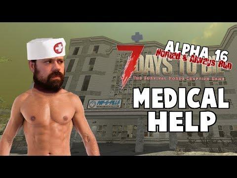 Hospital Raid | 7 Days To Die Alpha 16 Nomad Always Run Mini Series Let's Play Gameplay PC | E09