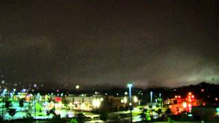Severe Thunderstorm Dramatic Arrival @ Night - Time-Lapse HD from Dusk Till Dawn