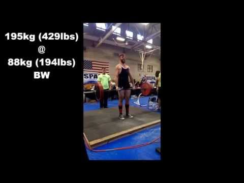 429lb Deadlift @ 194lb BW RAW Beltless USPA