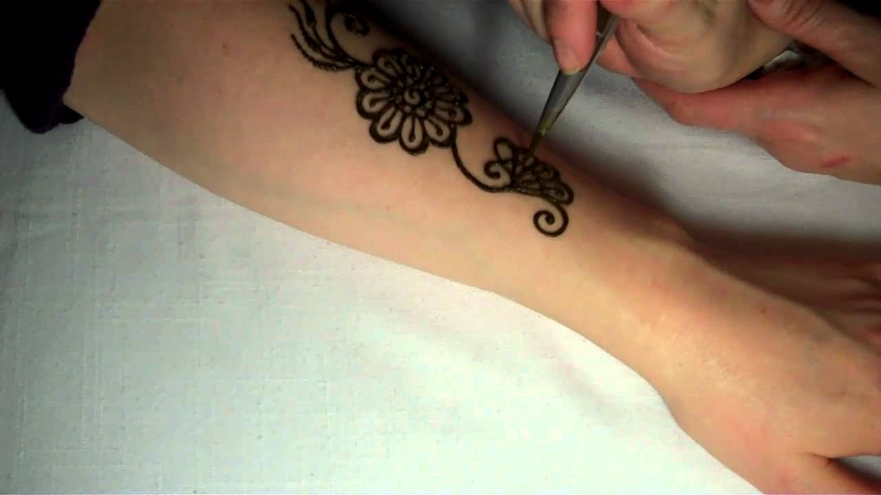 Elegant Henna Designs: Hennacat.com Henna Tutorials A Simple Elegant Floral