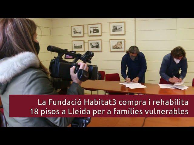 Acord amb Habitat3 perquè l'EMU disposi de 18 habitatges més per a famílies amb necessitats socials