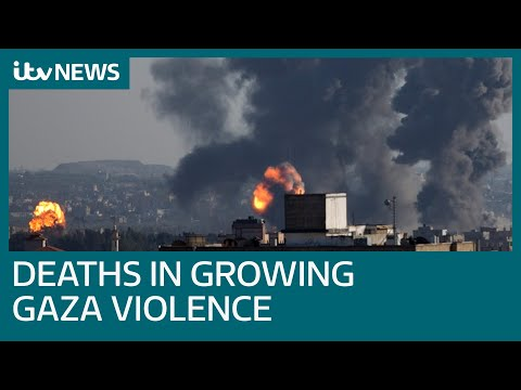 Airstrikes And Rockets Kill Palestinians And Israelis As Violence Increases | ITV News