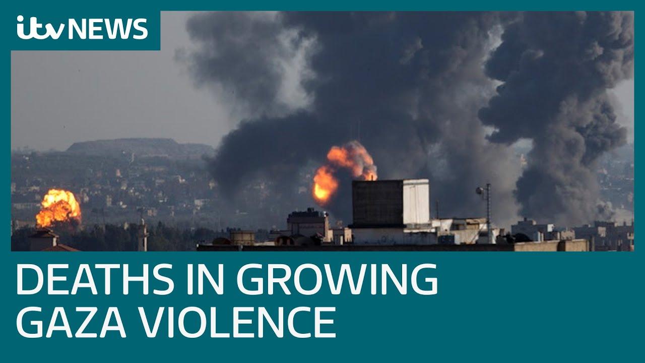 Airstrikes and rockets kill Palestinians and Israelis as violence increases | ITV News