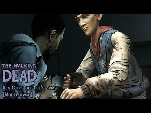 Walking Dead  Ben Cuts off Lees Arm Model Swap