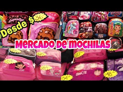 7cf351456 Mercado de mochilas a Super precios en el centro CDMX - YouTube