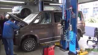 Удаление сажевого фильтра на  Volkswagen Multivan  . Удаление сажевого фильтра в СПБ.