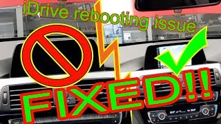 BMW F series iDrive reboot reset issue FIXED without replacing entry nav