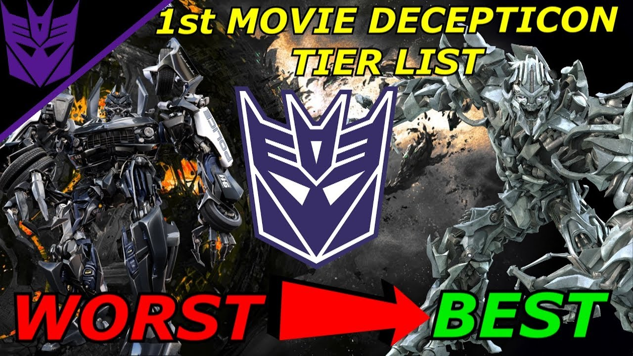 List Of Transformers >> The First Movie Decepticon Tier List Explained Best To Worst Transformers Bumblebee 2018