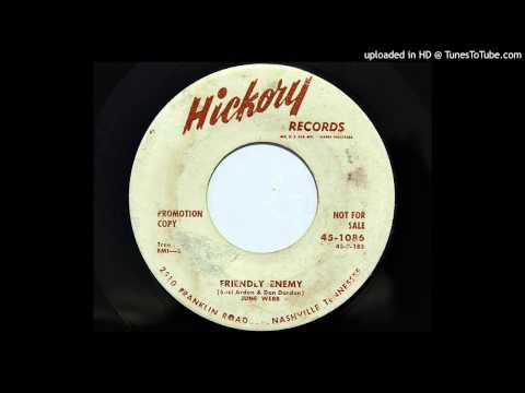 June Webb  Friendly Enemy Hickory 1086 1958 country