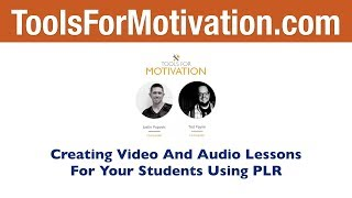 Creating Video And Audio Lessons For Your Students Using PLR Content