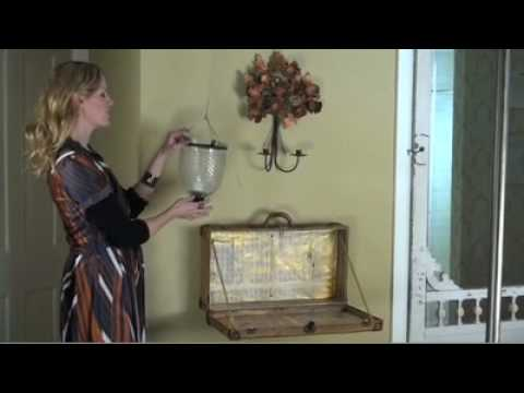 Tracy Porter Decorating DIY: Crafting A Vintage Suitcase Into A Charming  SHELF!!   YouTube