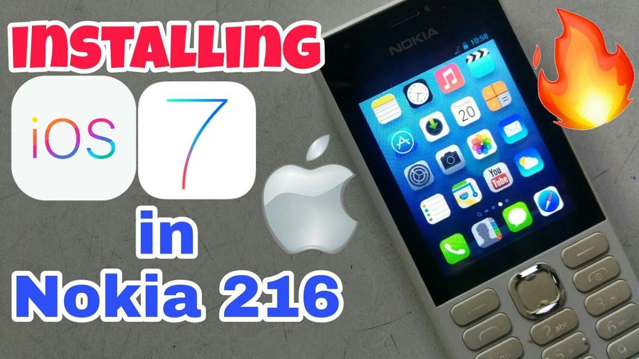 Installing iOS in Nokia 216 in |Hindi|