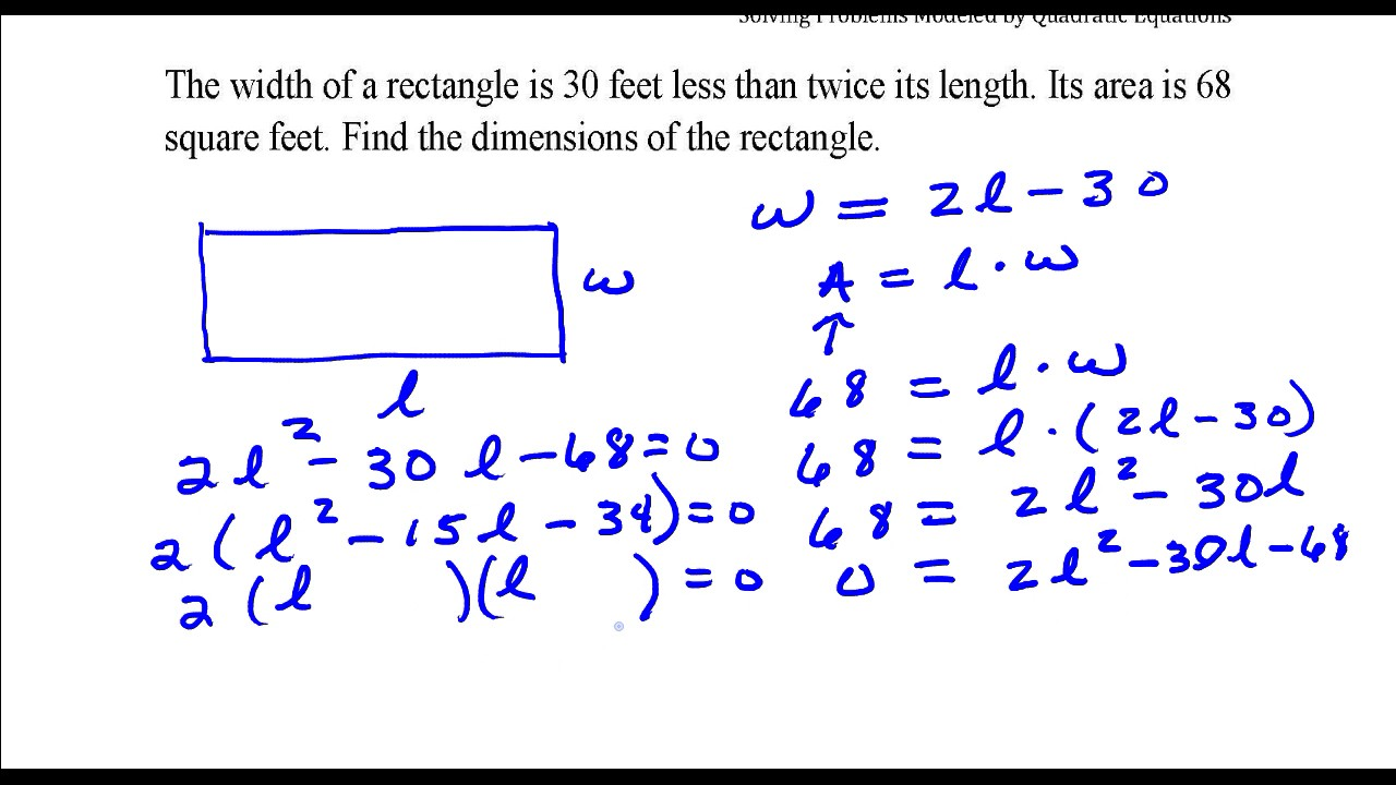 Find the dimensions of the rectangle given that the area is 24 sq feet.