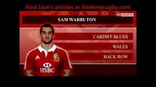 British & Irish Lions 2013 Squad