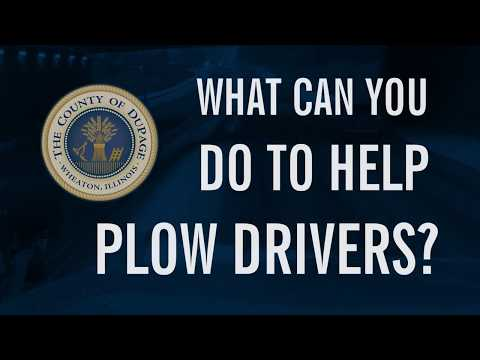 How Can You Help DuPage County Plow Drivers?