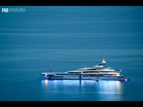 The AMAZING US$ 150,000,000 SUPER YACHT Madame Gu entering Antibes