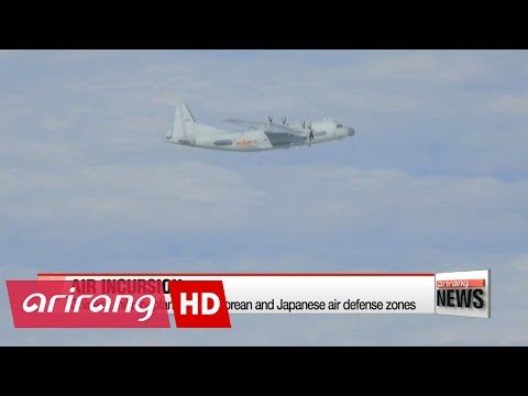 Chinese military planes enter Korean and Japanese air defense zones