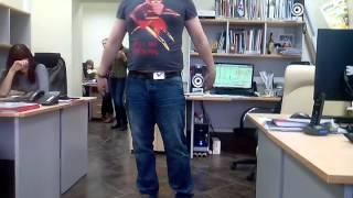 Бурпи. Бёрпи. Burpee в исполнении офисного планктона. Разминка в офисе.(, 2014-04-04T09:02:42.000Z)