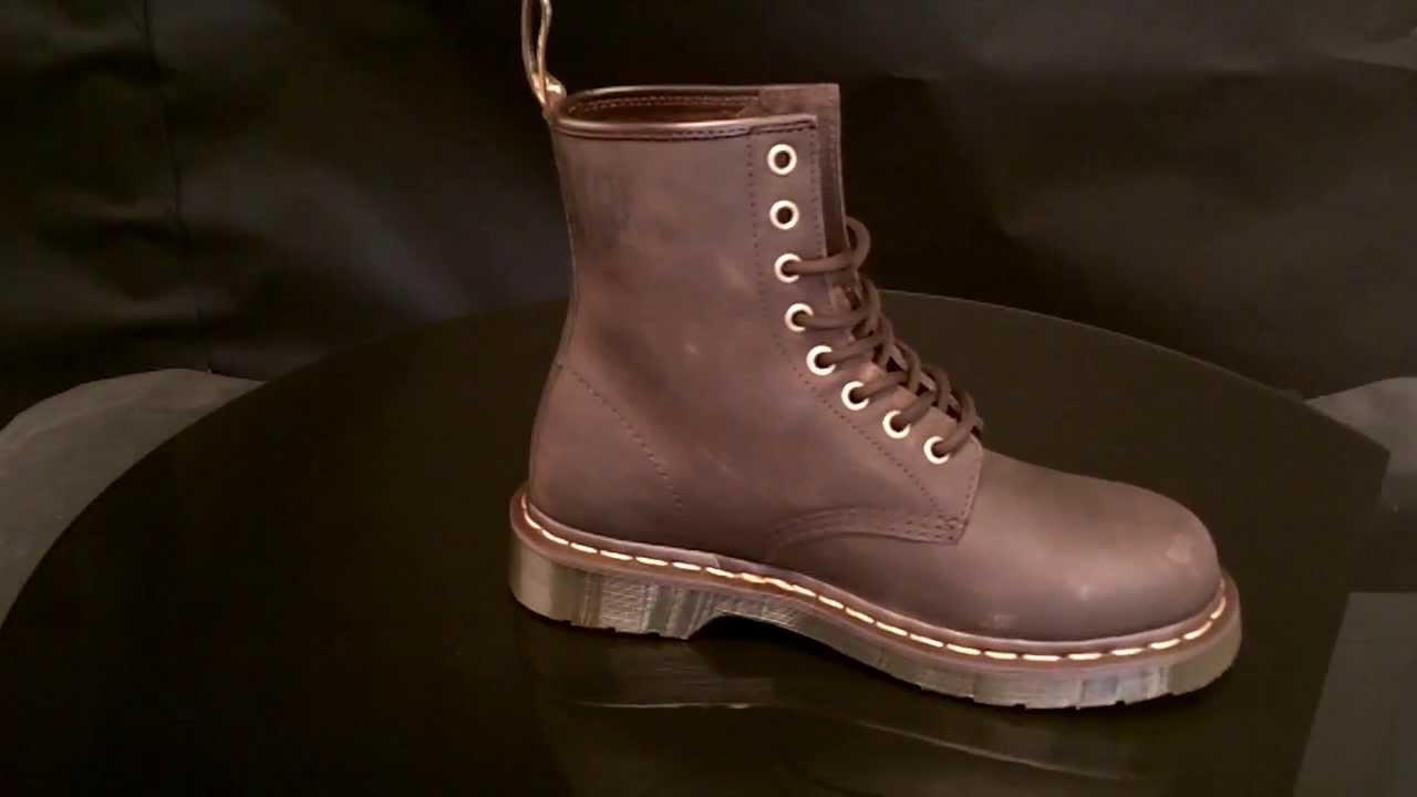 f1d8867b Dr Martens 1460 Gaucho Crazy Horse shoe - YouTube