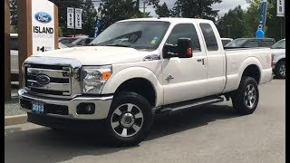 2013 Ford F-350 Lariat W/ Leather, Remote Start, Keyless Entry Keypad Review| Island Ford
