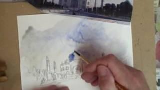 Watercolour Taj Mahal in 10 Mins!