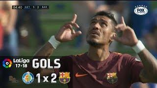 Gols - Getafe 1 x 2 Barcelona - La Liga 17-18