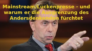 """Medienwissenschaftler Norbert Bolz lässt kein gutes Haar an den """"Mainstream""""-Medien"""