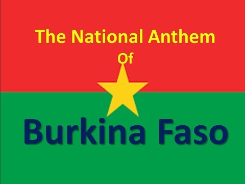 The National Anthem of Burkina Faso instrumental with lyrics (Une Seule Nuit)