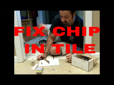 How To Fix a Chip In Tile so it Disappears  #daveblake License Tile Contractor