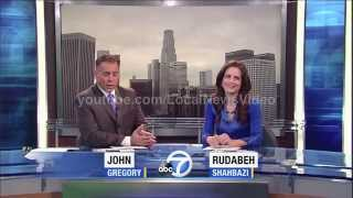 Rudabeh Shahbazi caught off guard during live newscast - News Blooper