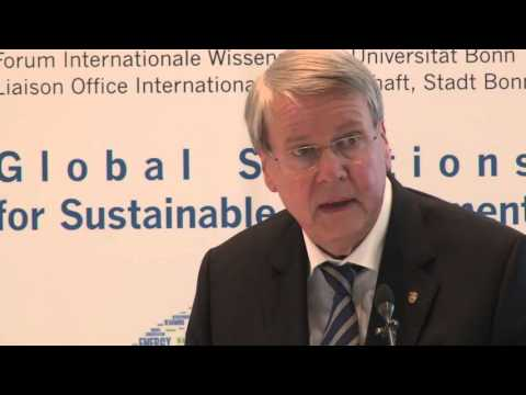 Jörg Hinrich Hacker: 1st lecture 'Global Solutions for Sustainable Development'