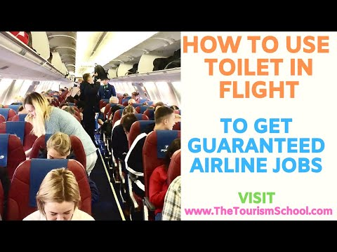 How to use toilet in Flight Inside Flight Toilet Washroom in Aeroplane by The Tourism School