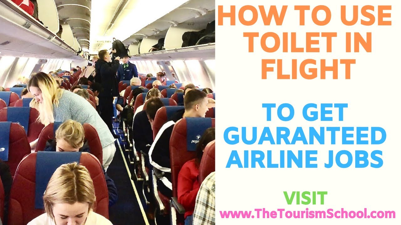 How to use toilet in Flight Inside Flight Toilet Washro ...