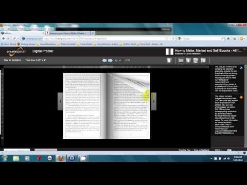 CreateSpace Proof book tutorial