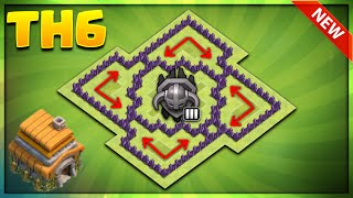 BRAND NEW TOWN HALL 6 'MASTER' BASE DESIGN 2017-TH6 TROPHY BASE DESIGN-Clash Of Clans