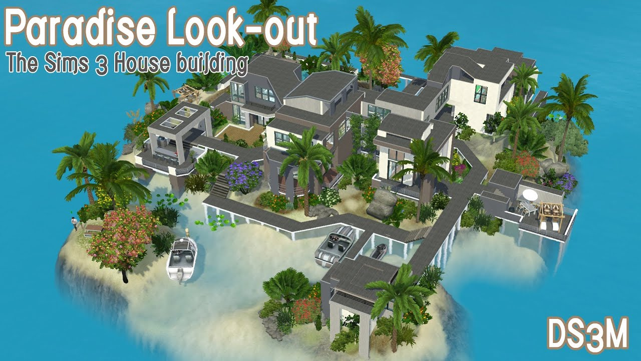The Sims 3 House - Palm Island 60 - Let's Build an Island ...