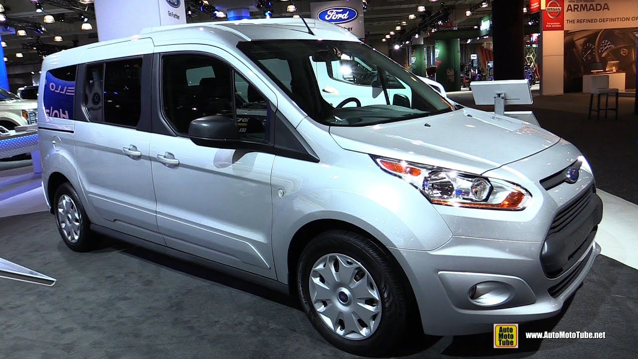 2016 ford transit connect wagon xlt lwb exterior and interior walkaround 2016 new york auto show