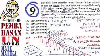 pembahasan UNBK SMA matematika IPA 2018, no 9 program linear, biaya minimum