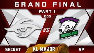 Secret vs VP Grand Final Kuala Lumpur Major KL Major Highlights Dota 2 - [Part 1]