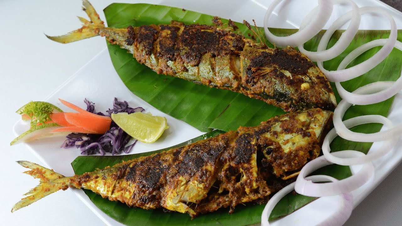 Aila fish fry by vahchef youtube for Sides to bring to a fish fry