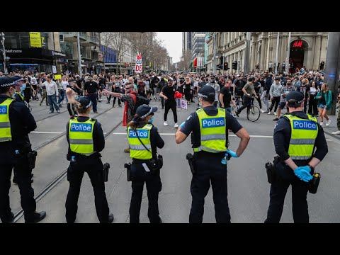 Melbourne protests continue in CBD streets
