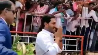 Ys jagan grand entry as a lion for oath ceremony event at Vijayawada