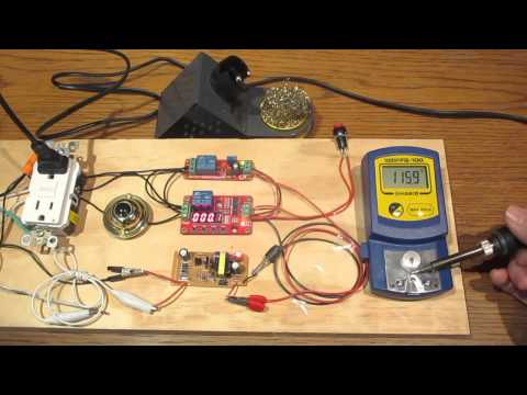 Soldering Iron Temperature Control Cycle Timer