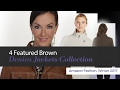 4 Featured Brown Denim Jackets Collection Amazon Fashion, Winter 2017